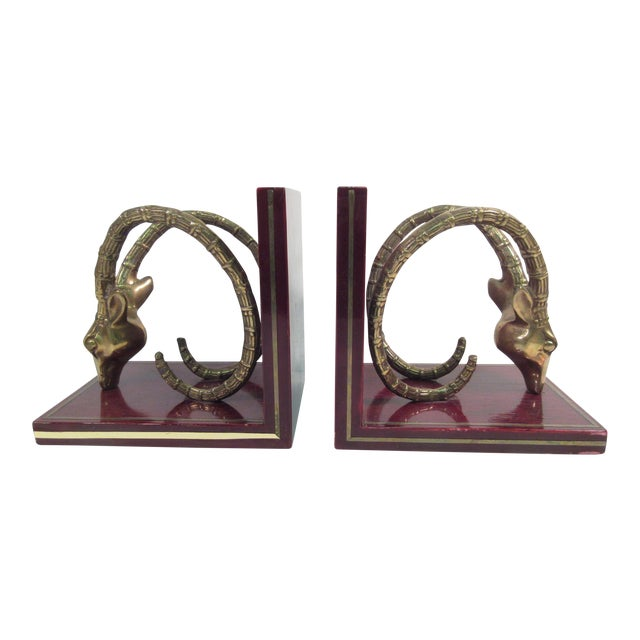 Vintage Ibex Brass Bookends - A Pair - Image 1 of 8