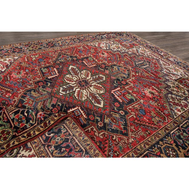 """Apadana - Vintage Persian Heriz Rug, 7'9"""" x 10'9"""" - Image 6 of 7"""