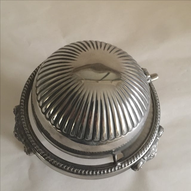 Mid-Century Silver Domed Tray - Image 6 of 8