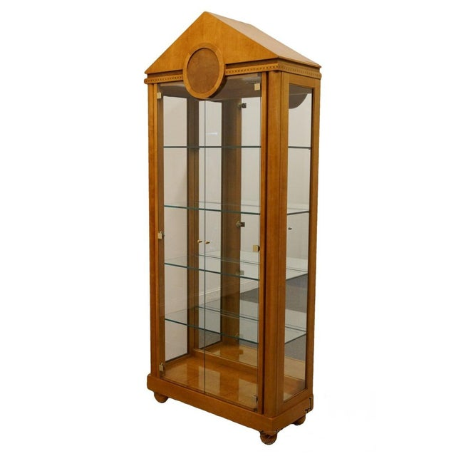 Glass Hickory White Genesis Collection Curio Cabinet For Sale - Image 7 of 7