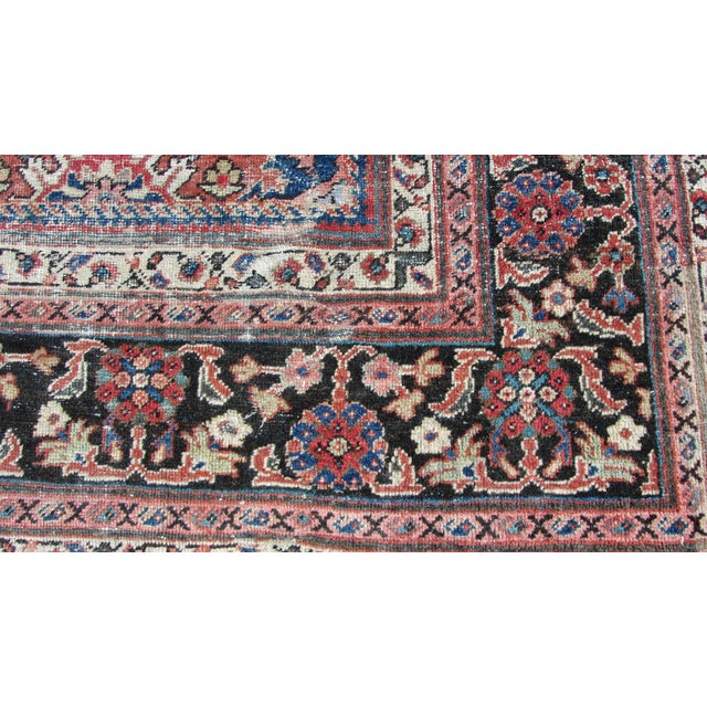 "Red and Blue Peshawar Area Rug - 13'1"" X 10' - Image 6 of 8"