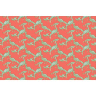 Plume Coral Linen Cotton Fabric, 3 Yards For Sale