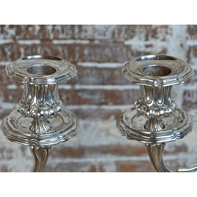 Christofle Silverplate Candelabras - a Pair - Image 8 of 10