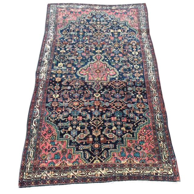 """Antique Persian Rug - 4'1"""" x 6'10"""" - Image 1 of 8"""