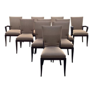 Dakota Jackson Cadette Dining Chairs- Set of 10 For Sale