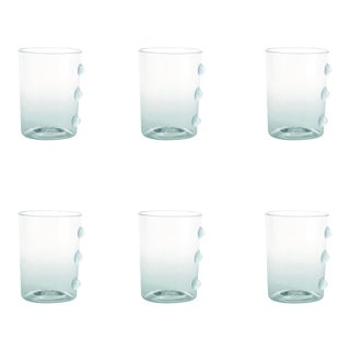 Petoni Tumbler in Transparent with White Dots - Set of 6 For Sale