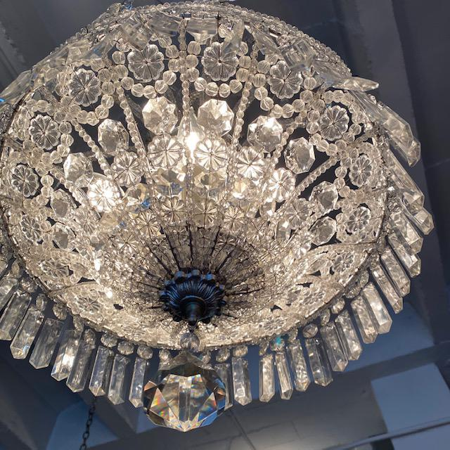 Silver Italian Chandelier For Sale - Image 4 of 7
