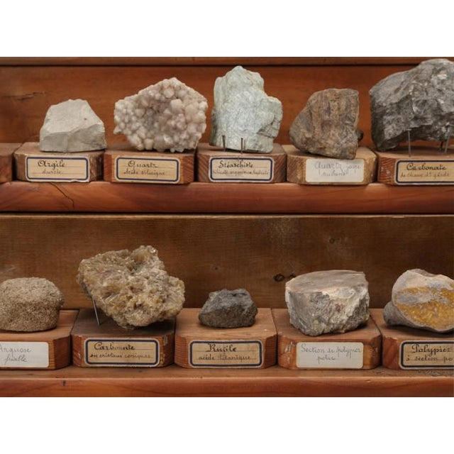 1891 French School Mineral Specimen Collection - 200 Pc. Set For Sale - Image 11 of 13