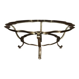 Antique Brass & Glass Coffee Table