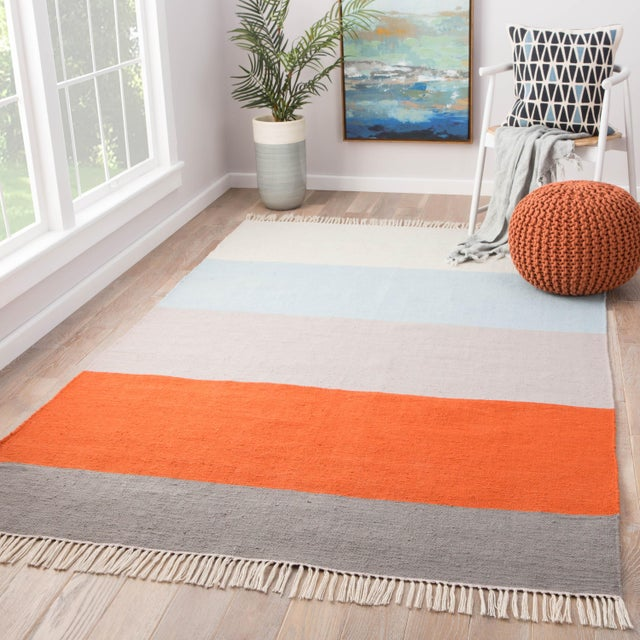 2010s Jaipur Living Swane Indoor/ Outdoor Striped Area Rug - 5′ × 8′ For Sale - Image 5 of 6