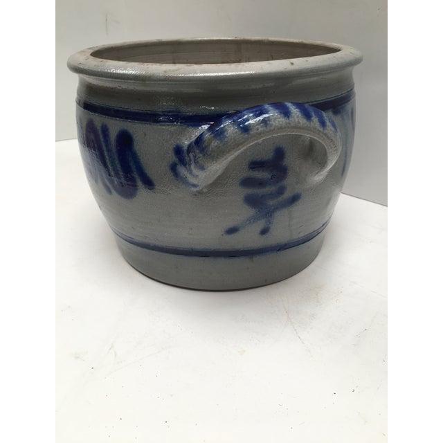 Vintage German Blue Salt Glazed Crock For Sale - Image 5 of 9