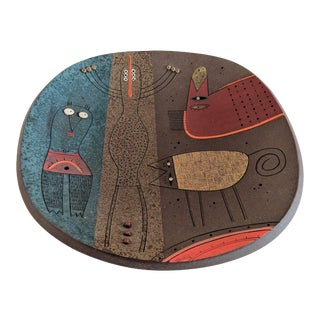Luciano Polverigiani Studio Ceramic Plate For Sale
