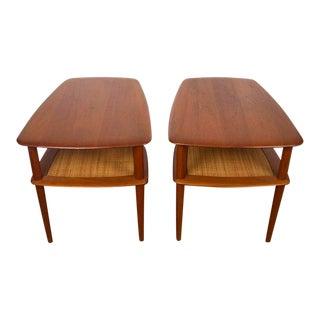 bf3af895296d0 1960s Danish Modern Peter Hvidt and Orla Molgaard-Nielsen for France   Sons  Teak Side Tables - a Pair