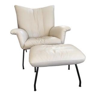 Room & Board Leather Paris Chair & Ottoman