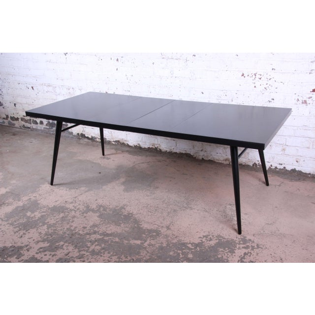1950s Paul McCobb for Planner Group Ebonized Extension Dining Table & Chairs - Set of 6 For Sale In South Bend - Image 6 of 13