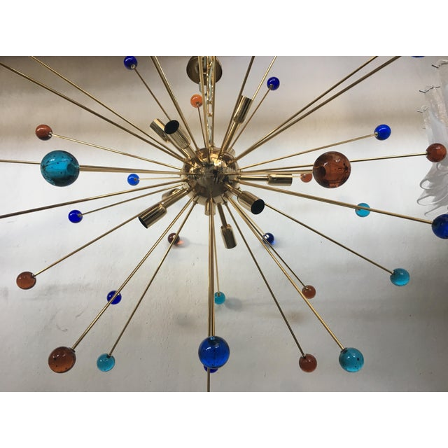Early 21st Century Multicolor Murano Glass Triedo Sputnik Chandelier For Sale - Image 5 of 12