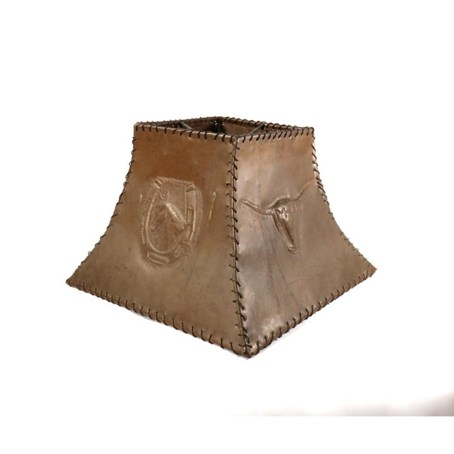 1920s Ranch Cowboy Lamp Shade, Copper - Image 4 of 8