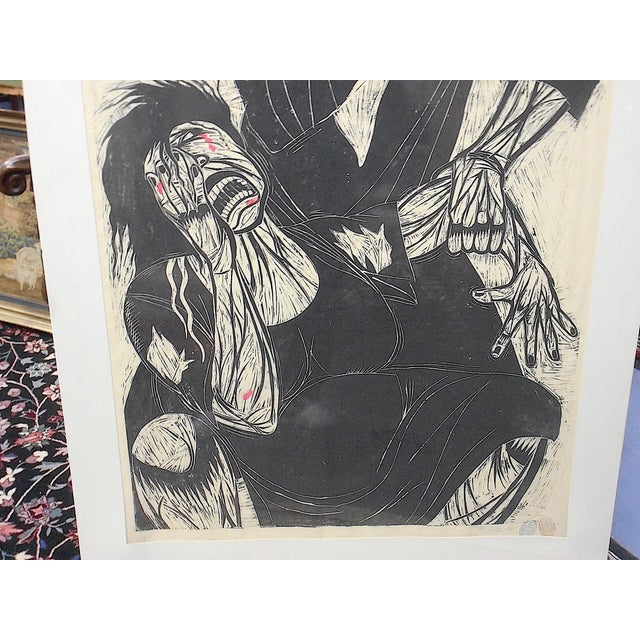 "Contemporary Urban Art-Artist Proof Ltd. Ed. Woodblock ""Hidden Fury""-Thom Shaw-Signed/Dated-Apprx.40""x60"" For Sale - Image 3 of 10"