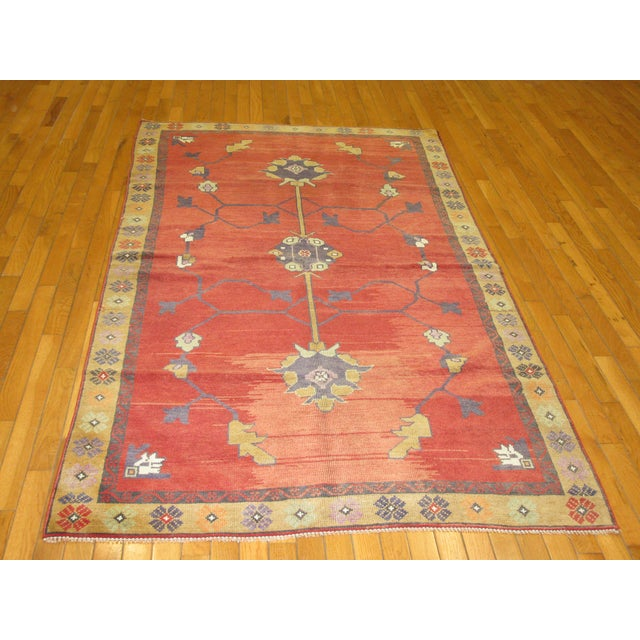 Traditional Vintage Hand Knotted Tribal Rug - 4′ × 7′1″ For Sale - Image 3 of 7