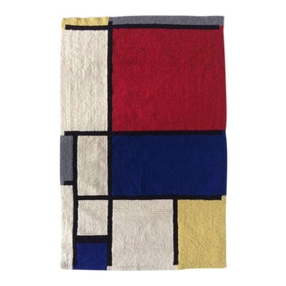 Mondrian Hand-Hooked Rug by Louis H.Guidetti For Sale