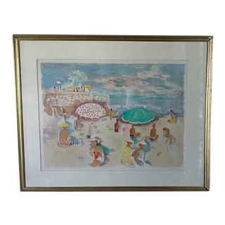Original Fritz Klein Painting - Beach Views, Signed For Sale