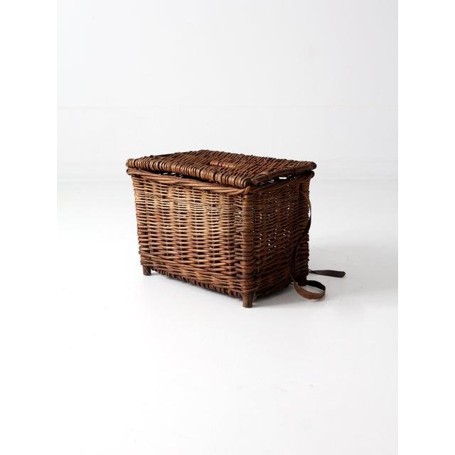 Antique Wicker Fishing Basket - Image 5 of 11