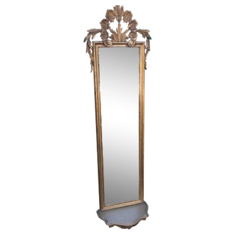 Vintage Gilded Gold Italian Rocco Mirror - Image 1 of 9