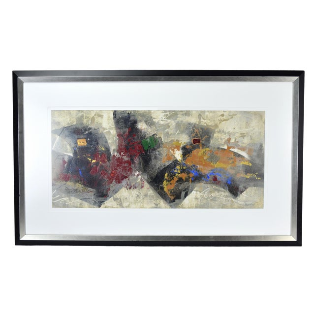 Modernist Abstract Forms Oil Painting #2 by Canadian Artist Patrice Beckerich For Sale