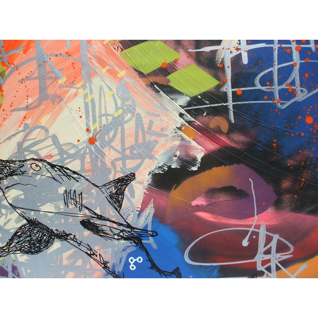 Mixed Media Abstract Painting - Image 4 of 4