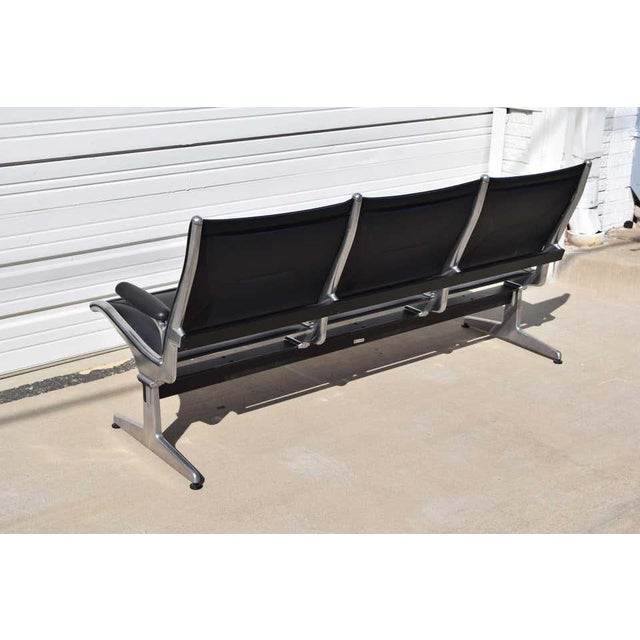 1970s Eames for Herman Miller Tandem Sling Airport Bench For Sale - Image 5 of 11