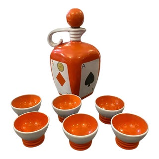 1950s Italian Mid-Century Modern Liquor Set by Pucci Umbertide For Sale