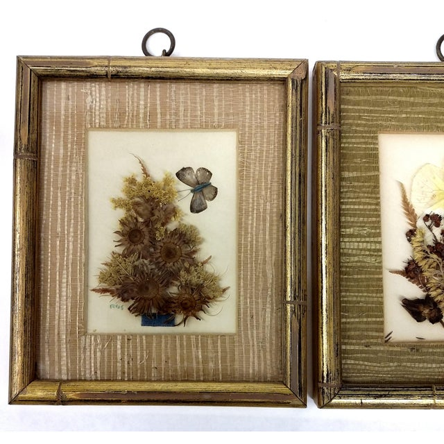 Mid-Century Botanical Flower Art Pieces - A Pair - Image 3 of 7