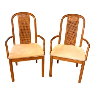 Danish Modern Drexel Caneback Arm Chairs - a Pair For Sale