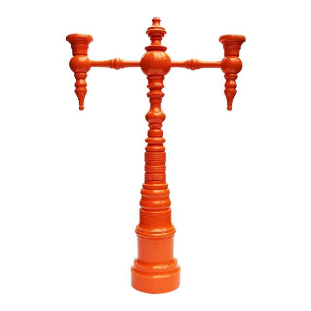 "Dunes and Duchess ""Classique"" Candelabra in Orange - Image 1 of 8"