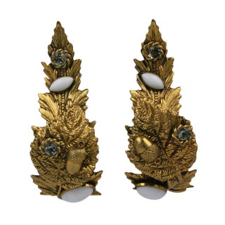 Dominique Aurientis Baroque Curled Leaf Earrings For Sale