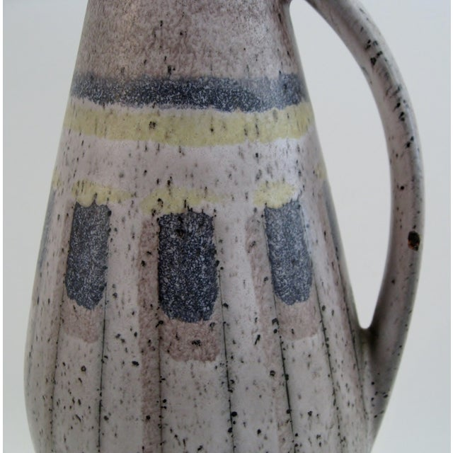 1970s West German Ceramic Vase For Sale - Image 5 of 6