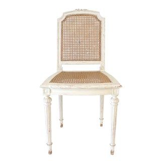 Louis XVI Style Cane Chairs With Carved Garland Detail - a Pair Preview