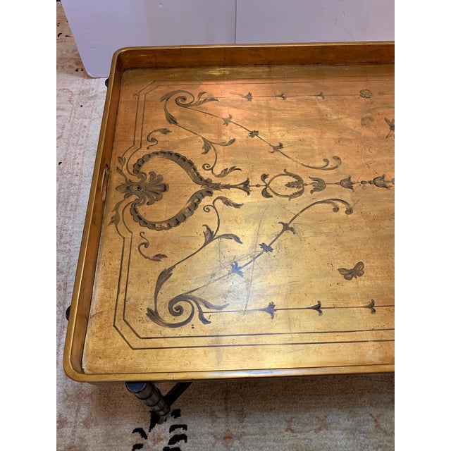Hollywood Regency Glam Tray Top Gilded Coffee Table For Sale In Philadelphia - Image 6 of 13