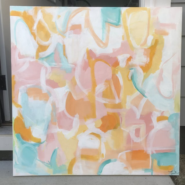 """""""Playa Hermosa"""" original painting by abstract artist Christina Le Sesne Longoria. Original artwork completed in 2018, this..."""