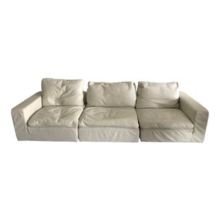Restoration Hardware Cloud Modular Leather Sectional Sofa For Sale