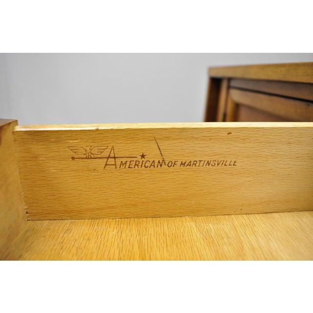 Mid-Century Modern American of Martinsville Walnut Drop Leaf Server Bar Buffet For Sale - Image 10 of 11