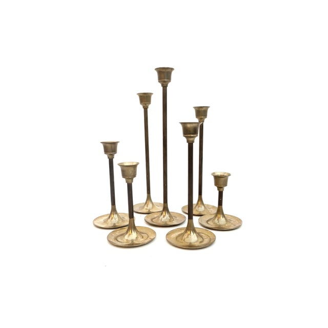 """Brass Vintage Brass Candlestick Holders 