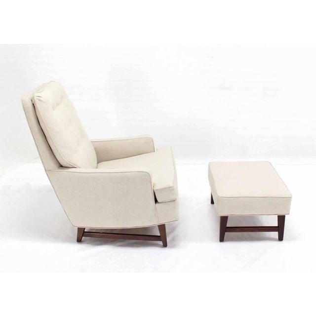 Vintage Mid Century Lounge Chair With Ottoman For Sale - Image 9 of 10