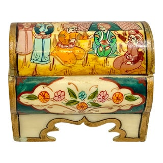 Vintage Hand-Painted Box For Sale