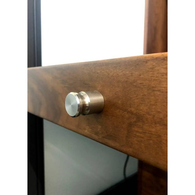 Mid-Century Modern Room and Board Solid Walnut Cabinet For Sale In San Francisco - Image 6 of 8