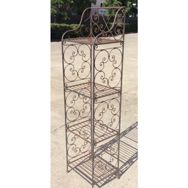 Scrolling Iron Etagere For Sale - Image 9 of 11