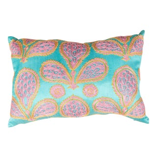 Modern Embroidered Multicolor Sofa Pillow For Sale