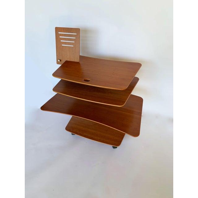 Aksel Kjesgaard of Denmark Teak Mid-Century Adjustable Desk on Casters For Sale In San Diego - Image 6 of 12