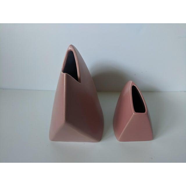 Ceramic Set of 2- 1980s Modernist J Johnston Sculptural Vessels For Sale - Image 7 of 12