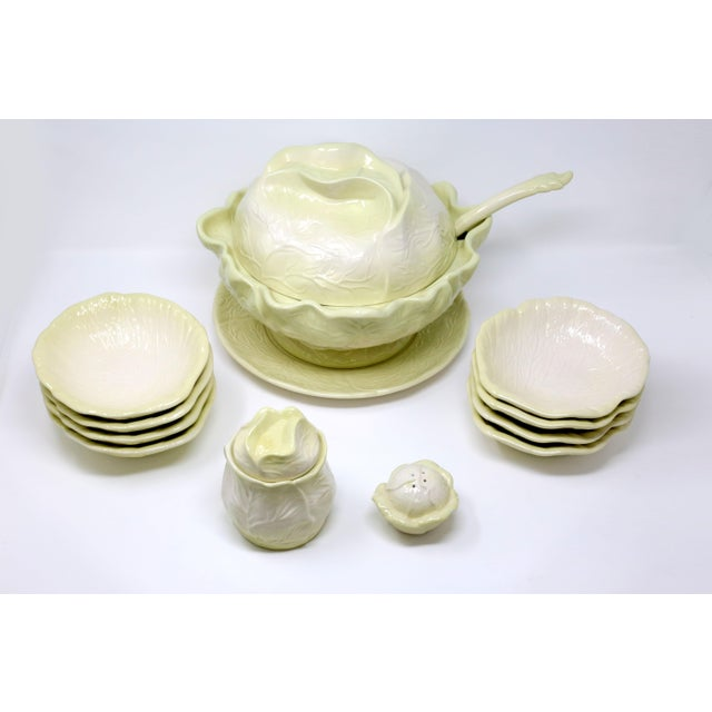 Vintage Large Cabbage Soup Tureen Set Set Of 11 Chairish